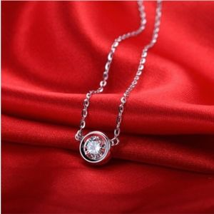 Jewelry - Single Faceted Round Genuine Crystal Necklace